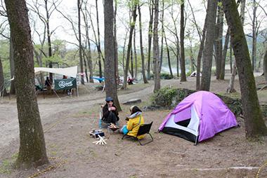 テントサイト(自然を利用したテントサイト)