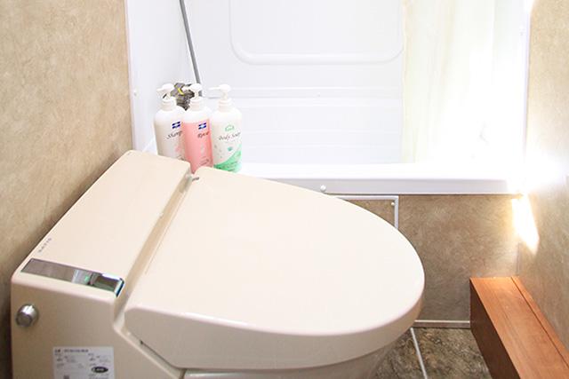 トラベルトレーラーCタイプ:バス・トイレ